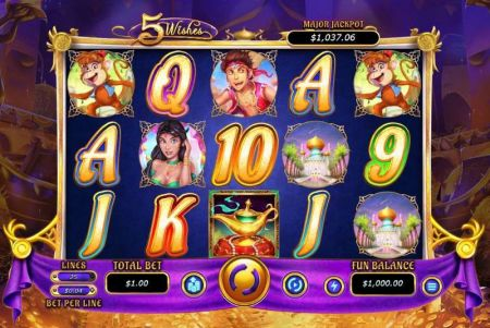 Play 5 Wishes - Free Slot Game