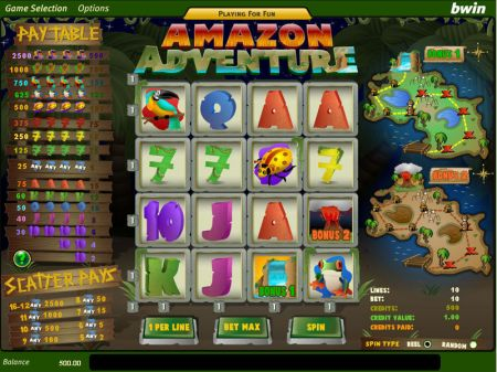 Play Amazon Adventure - Free Slot Game
