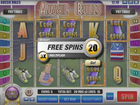 Play Aussie Rules - Free Slot Game