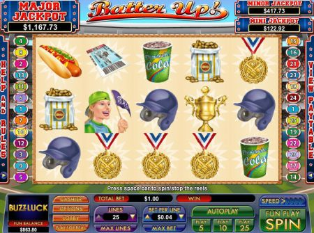 Play Batter Up - Free Slot Game
