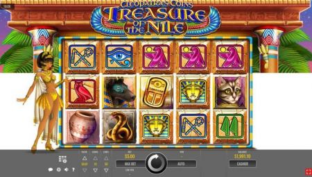 Play Cleopatra's Coins: Treasure of the Nile - Free Slot Game