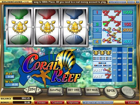 Play Coral Reef - Free Slot Game