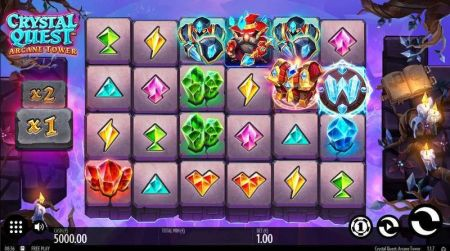 Play Crystal Quest: ArcaneTower - Free Slot Game