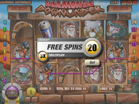 Play Diamonds Downunder - Free Slot Game
