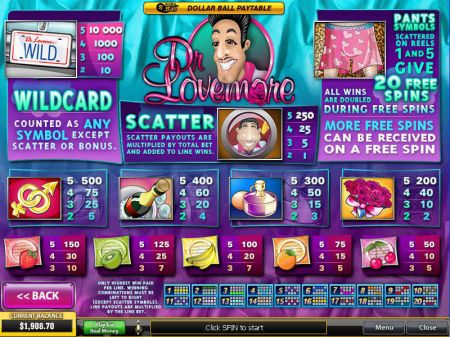 Play Dr Lovemore - Free Slot Game