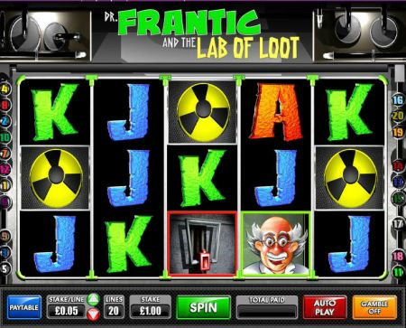 Play Dr.Frantic and the Lab of Loot - Free Slot Game