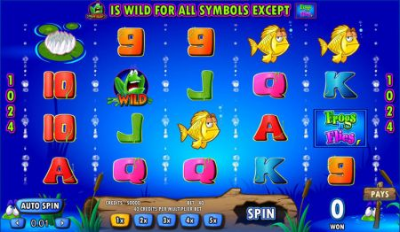 Play FrogsNFlies - Free Slot Game