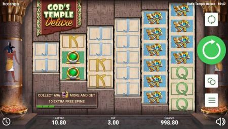 Play Gods Temple Deluxe - Free Slot Game