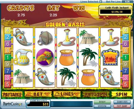 Play Golden Oasis - Free Slot Game