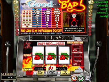 Play It's Good to be Bad - Free Slot Game