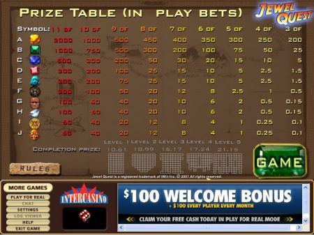 Play Jewel Quest - Free Slot Game