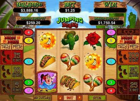 Play Jumping Beans - Free Slot Game