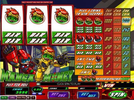 Play Manga Money - Free Slot Game