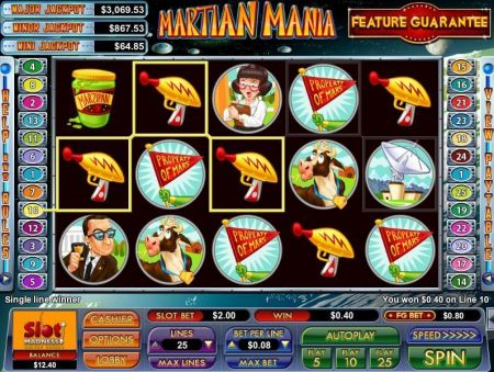 Play Martian Mania - Free Slot Game