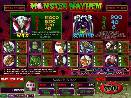 Play Monster Mayhem - Free Slot Game