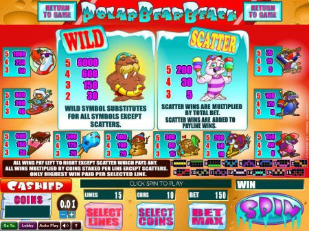 Play Polar Bear Beach - Free Slot Game