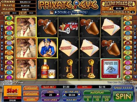 Play Private Eye - Free Slot Game
