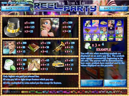 Play Reel Party Platinum - Free Slot Game
