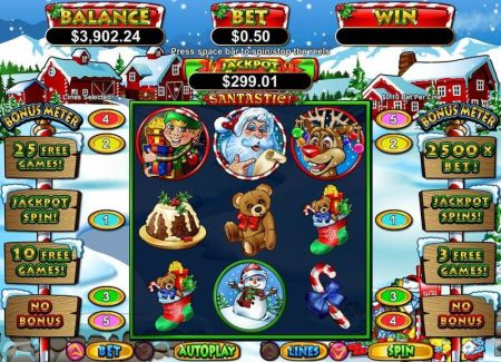 Play Santastic! - Free Slot Game