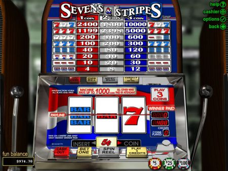 Play Sevens and Stripes - Free Slot Game