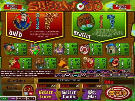 Play Sherwood - Free Slot Game