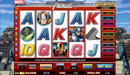 Play The Avengers - Free Slot Game