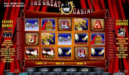 Play The Great Casini - Free Slot Game