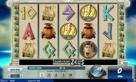 Play Thundering Zeus - Free Slot Game