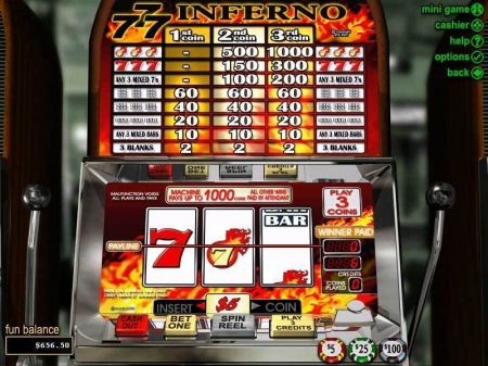 Play Triple 7 Inferno - Free Slot Game