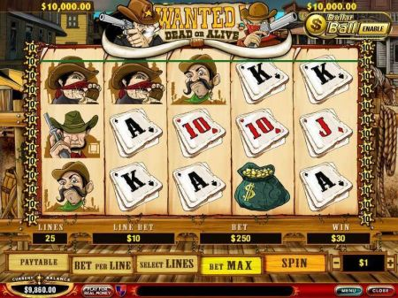 Play Wanted Dead or Alive - Free Slot Game