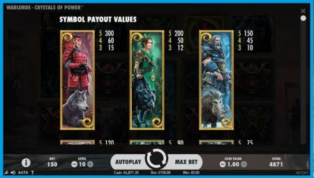 Play Warlords: Crystals of Power - Free Slot Game